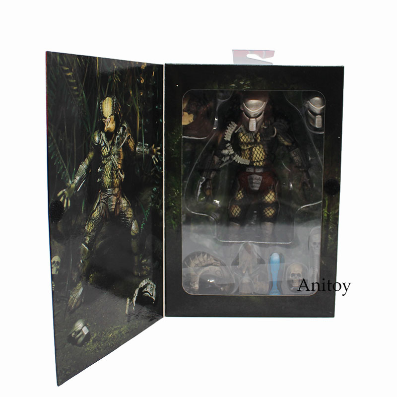 NECA PREDATOR Jungle Hunter PVC Action Figure Koleksiyon Model Oyuncak 20 cm